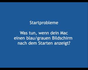 Mac blauer Start-Bildschirm