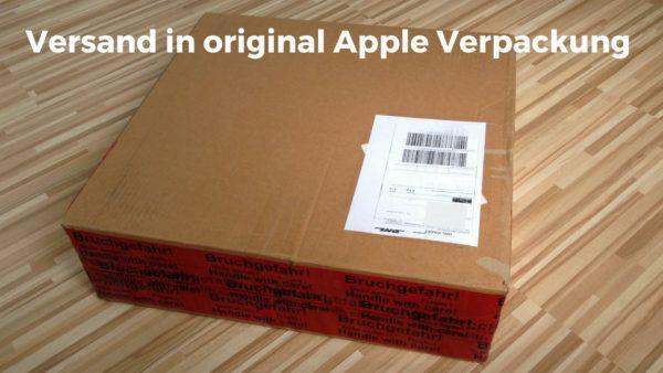 Versand des MacBooks im Original-Apple Umverpackunsgkarton