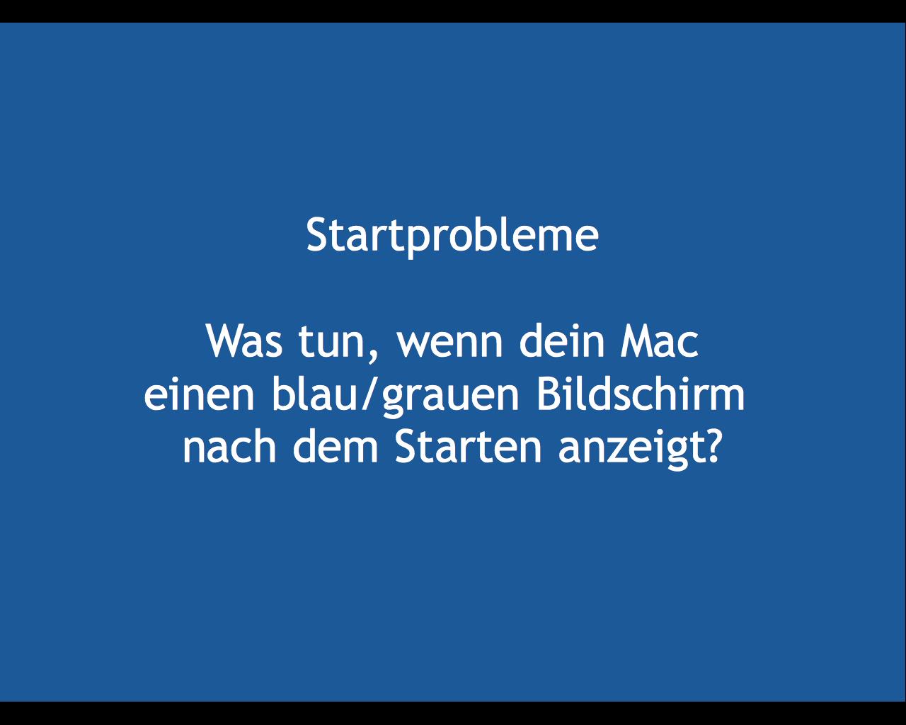 Lösung Für Macbook Pro Und Sein Blauer Bildschirm Beim Starten