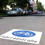 Fahrradstraße, Markierung